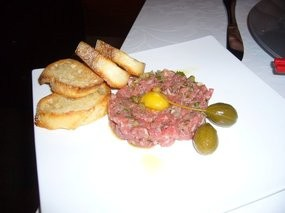 Pudong offered both Chinese and French dishes, like this tartare. - GENEVIEVE Y./YELP