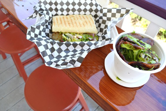 Pull up a chair on the porch bar to enjoy fresh, local eats - ANASTASIA CROSSON
