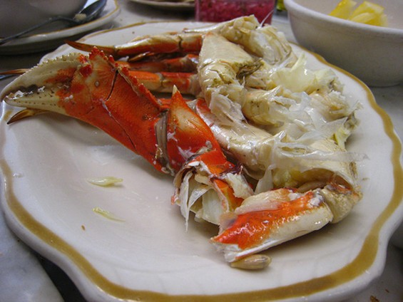 Purist's delight: Half a cracked crab at Swan. - NCHOZ/FLICKR