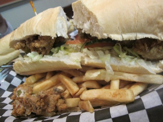 Queen's oyster po'boy deserves its own Mardi Gras float, or at least some trophy beads. - JESSE HIRSCH