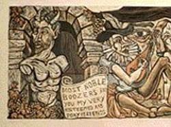 THOMAS  LUCAS - Rabel-Rouser: Art Hazelwood's satirical Gargantua - in the Vineyards pulls its story from Rabelais.
