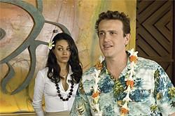 GLEN WILSON - Rachel (Mila Kunis) helps heartbroken Peter (Jason Segel), the screwed-up manboy in all of Judd Apatow's movies.