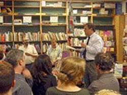 DAVID  LATULIPPE - Radio, Radio: Neal Sofman tells a live audience about - his bookstore's new show.