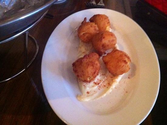 Radius's Deep-fried Gourgeres - OMAR MAMOON