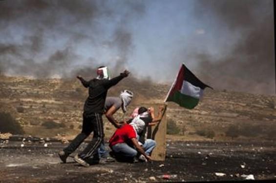 Ramallah, Occupied West Bank. Palestinians on Nakba Day (Catastrophe Day). - HEIDI LEVINE