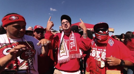 Rapper Heat in the mix at Candlestick