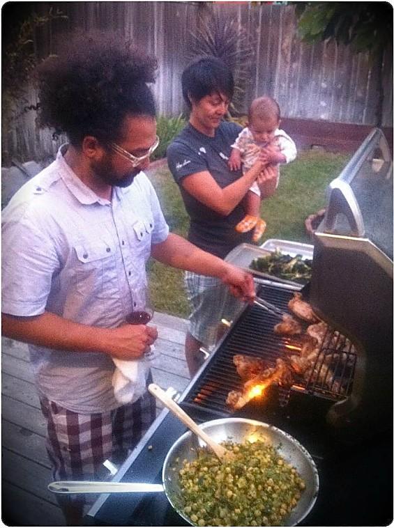 Ravi Kapur, sous chef Nana Guardia, and April