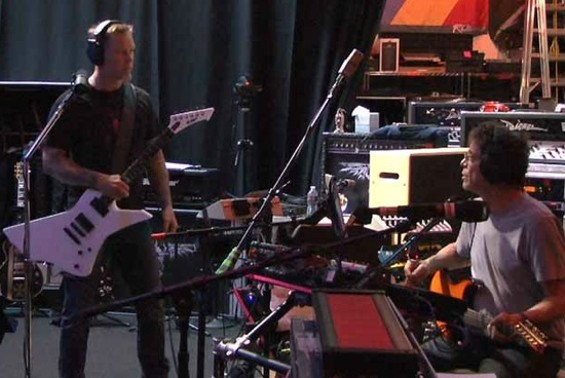 Reed with Metallica's James Hetfield: The creation of a new planetary system?