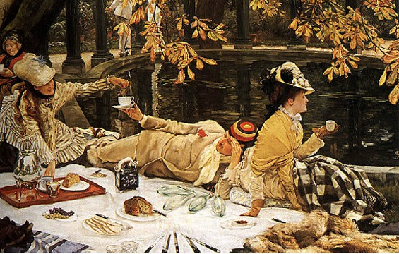 "Relax in style like the people in James Tissot's 1876 painting ""Holyday."""