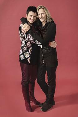 KEVINBERNE.COM - Revealing the secret lives of girls: Playwright Eve Ensler (left) and director Jo Bonney.