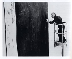 ULRICH BAATZ - Richard Serra at work on Alameda Street, 1981.