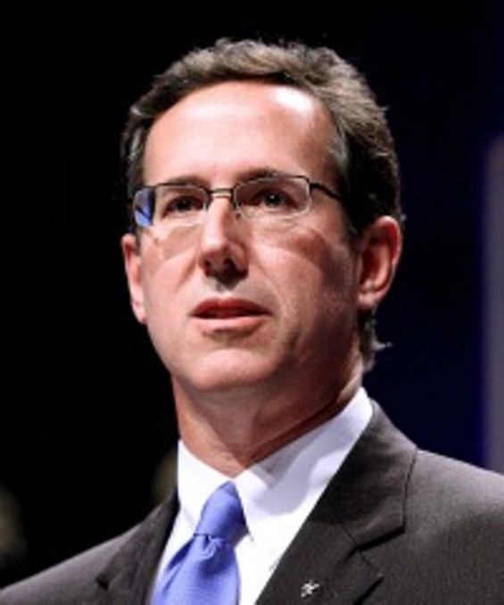 Rick Santorum, pictured here with his smart glasses