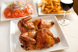LARA HATA - Right off the spit: the Peruvian rotisserie chicken from Inkas.