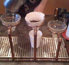 Ritual's V-60 pour-over station.