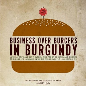 RN74's burger promo starts Jan. 17. - RN74