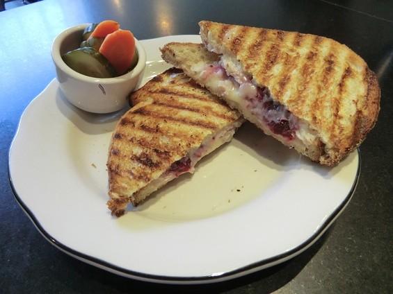 Roast turkey and Provolone panino, $8.50. - ALEX HOCHMAN