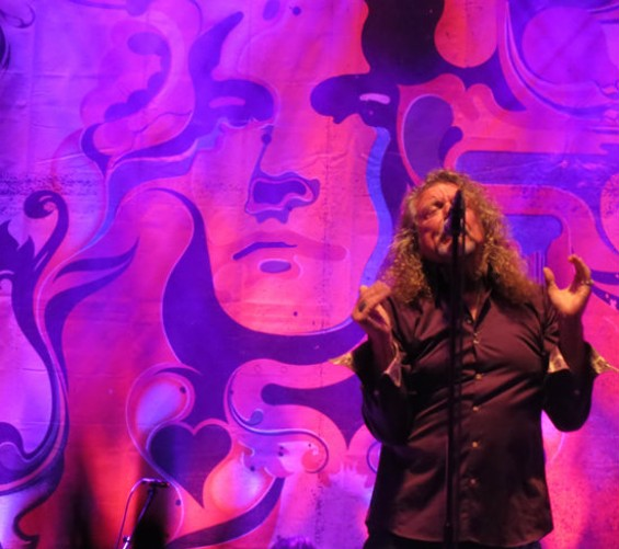 Robert Plant at the Greek on Saturday. Photos by the author.