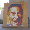 Robin Williams Portrait Made of Rubik's Cubes