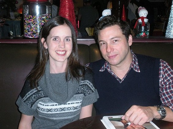 Rocco DiSpirito, with a woman who won't be seeing his perfect penis. - DINEMAG/FLICKR