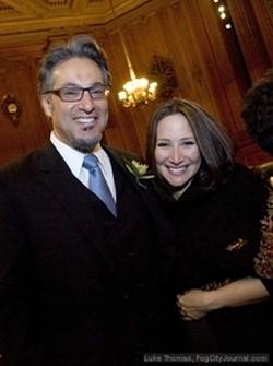 Ross Mirkarimi and Eliana Lopez.