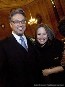 Ross Mirkarimi and Eliana Lopez.