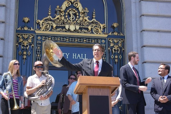 Ross Mirkarimi at City Hall Tuesday afternoon.