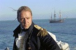 STEPHEN  VAUGHAN - Russell Crowe as manly man's man Jack - Aubrey.