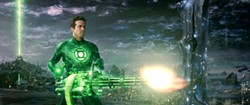 Ryan Reynolds brings out the big guns in Green Lantern, and we find it very difficult to care.