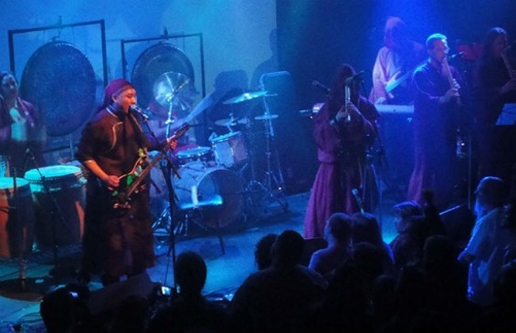 Sabbaticus Rex & the Axe-Wielders of Chaos with Cornelius Boots on Japanese flute performing Electric Funeral