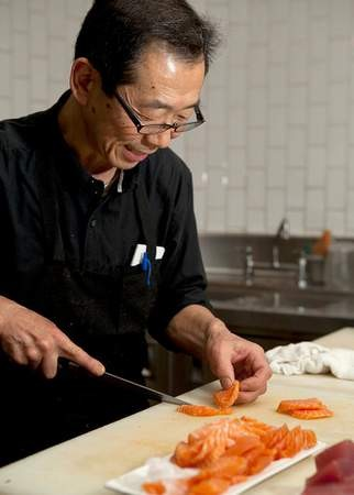 Sachio Kojima in action at Hecho. - MELISSA BARNES
