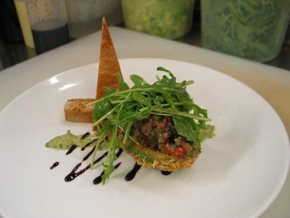 Saha's fried avocado salad. - JENN A./YELP
