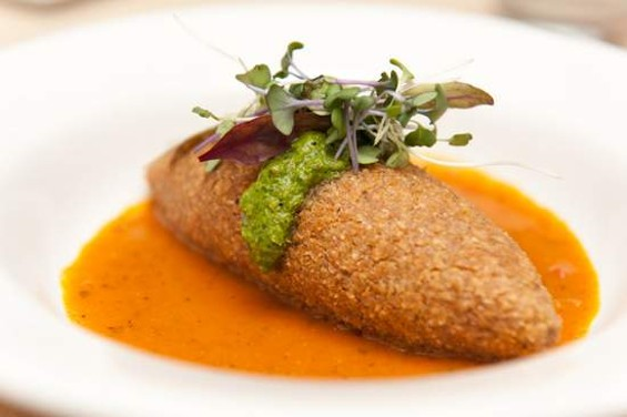 Saha's vegan kibbeh, $9. - ALBERT LAW