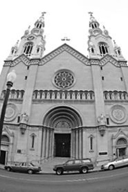 JAMES  SANDERS - Saints Peter and Paul Church in North Beach is - served by Salesian priests, including one current and - one former associate pastor who have been accused - of sexual misconduct.