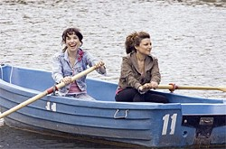Sally Hawkins (left) plays the most relentlessly upbeat kindergarten teacher ever to cycle London's chartered streets.