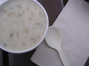 Sam's clam chowder: Back from a very mournful place. - J. BIRDSALL