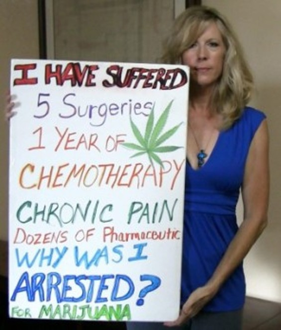 """San Diego medical Marijuana patient Donna Lambert was arrested in Operation Green Rx as part of the """"crackdown."""" - LONGBEACH.GOV"""