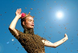 Sara Mapelli performs a ritual dance with 12,000 bees.