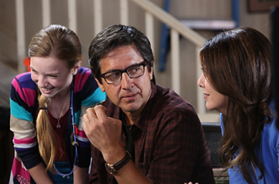 Sarah helps Hank connect with his daughter. - PHOTO COURTESY OF NBC.COM