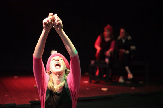 Sarah Moser as First Dumpling in Megan Cohen's Three Little Dumplings Go Bananas, a highlight of the Bay One Acts Festival. - CHRIS ALONGI