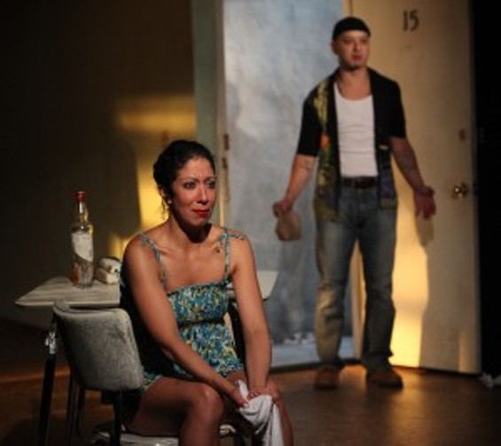 Sarah Nina Hayon and Sean San José in Octavio Solis' Se Llama Cristina at Magic Theatre through February 17 - (PHOTO: JENNIFER REILEY)