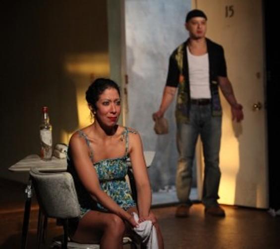Sarah Nina Hayon and Sean San José in Octavio Solis' Se Llama Cristina at Magic Theatre through February 17 - (PHOTO: JENNIFER REILEY)