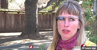 Sarah Slocum and her omnipresent Google Glass