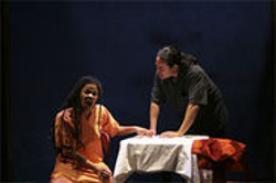 MICHAEL SEXTON - Savannah Shange, the playwright's daughter, gives a superhuman quality to her character.