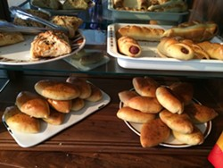 Savory pastries (note the different types of doughs used) - PETE KANE