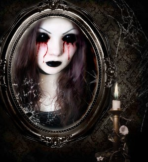 """Say """"Bloody Mary"""" three times into the mirror and she's supposed to appear. Or maybe this is just a hangover pic. - KARI LYNN KATIE/GLOGSTER"""