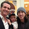 Tim Lincecum Freaks Out Gavin Newsom's Kid