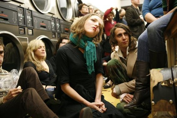 Scene from a previous Lit Crawl: Smitten at a reading in a laundromat. - SHELLEY EADES