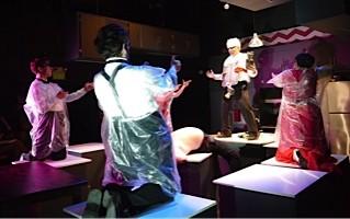 Scene from The Cutting Ball Theater's production of Ubu Roi. - PHOTO TATIANA KARPEKINA