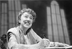 DAVID  ALLEN - Scrappy, Goony Enthusiasm: Jean Stapleton as Eleanor Roosevelt.