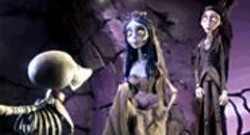 Scraps the skeleton dog looks up to the - Corpse Bride, voiced by Helena Bonham - Carter, and Victor (Johnny Depp) in Tim - Burton's latest.